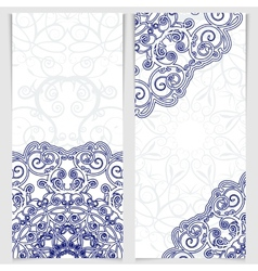 Set of greeting cards or invitations in the style vector image vector image