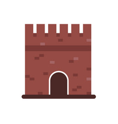 stone medieval historical building medieval vector image vector image