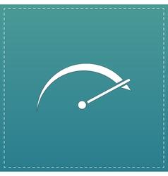 Tachometer flat icon vector