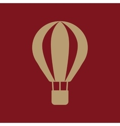 The air balloon icon aerostat symbol flat vector