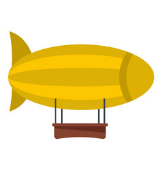 Yellow airship icon isolated vector