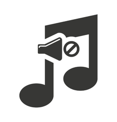 Music note silhouette icon vector