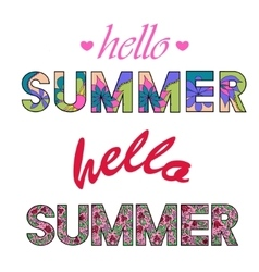 Hello summer colorful words vector image