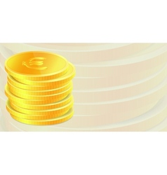 Background with golden coins vector image