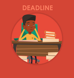 Businessman having problem with deadline vector