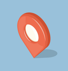 Glossy red isolated pointer gps icon sign vector