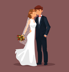 husband and wife man and woman couple at wedding vector image