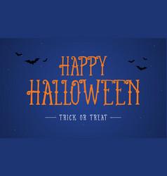 Happy halloween night background card vector
