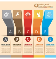 Modern graph banner infographic vector