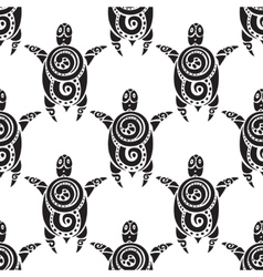 Turtles seamless pattern vector