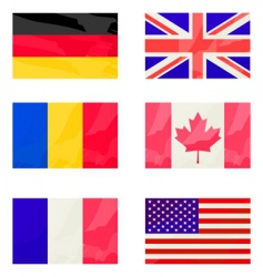 Flags collection vector