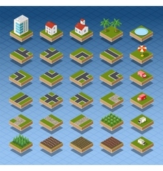 Isometric city map vector