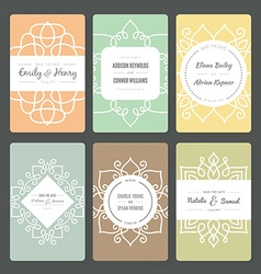 Ornamental card templates vector