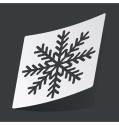 Monochrome winter sticker vector