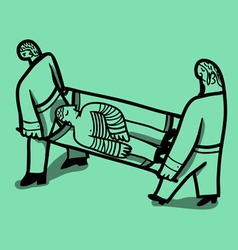 nurses stretcher vector image