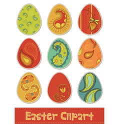 easter eggs design elements vector image