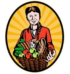 organic farmer vector image