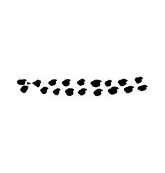 Animal tracks brush stroke grunge textured vector