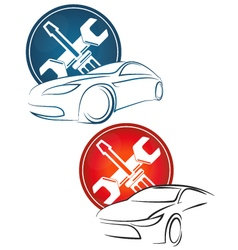 Auto repair a set vector image vector image