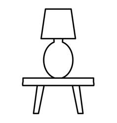 Bedroom lamp in table vector