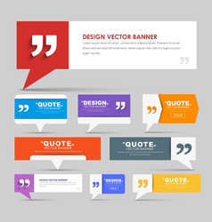 Big set of web banners for a quote vector
