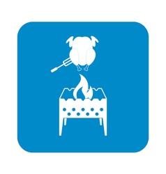 Brazier chicken icon vector