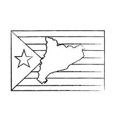 Catalunya flag icon image vector