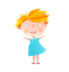 Cute little girl standing isolated vector