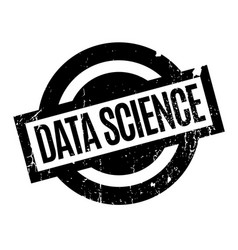 data science rubber stamp vector image vector image