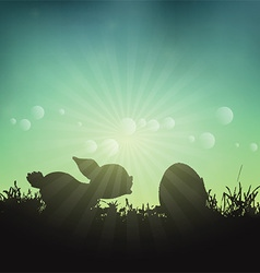 easter bunny and egg 1403 vector image