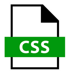 file name extension css type vector image