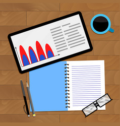 Finance accounting infochart vector