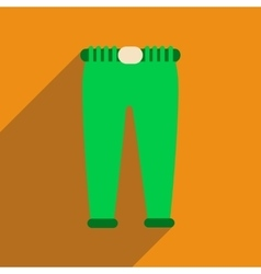 Flat icon with long shadow men pants vector