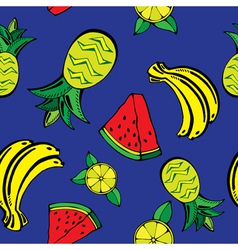 fruits pattern3 vector image vector image