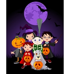 Halloween children vector
