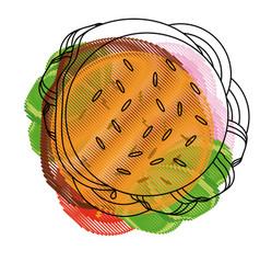 hamburger fast food vector image vector image