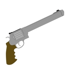 Handgun revolver and military revolver vector image