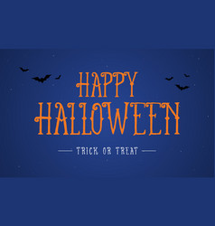 Happy halloween night background card vector