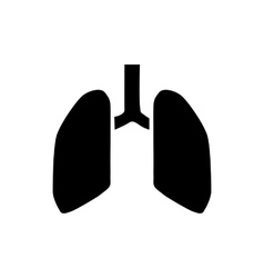 Human lungs icon simple style vector image