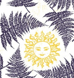 Ivana Kupala ink hand drawn seamless pattern vector image vector image