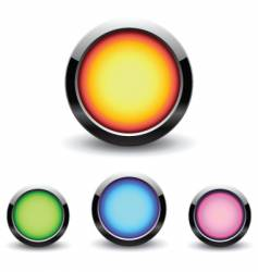 neon glossy buttons vector image vector image