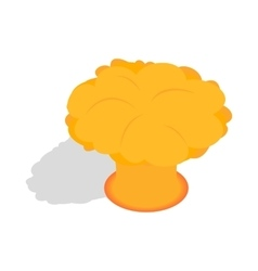 Nuclear explosion icon isometric 3d style vector