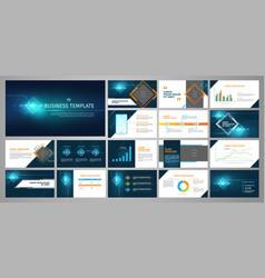 presentation business banner template set vector image vector image