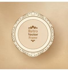 Round vintage baroque frame vector
