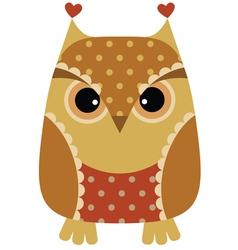 unny cartoon owl vector image vector image