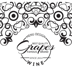 Wine list design layout vector image vector image