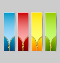 Zipper banners vector image