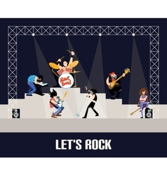 Rock band music group concert vector