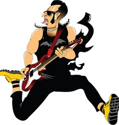 Rocker cartoon vector