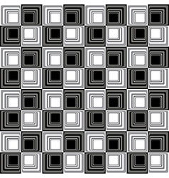 Abstract modern seamless pattern bw vector